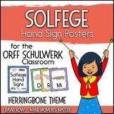 Solfege Hand Sign Posters - Herringbone Theme