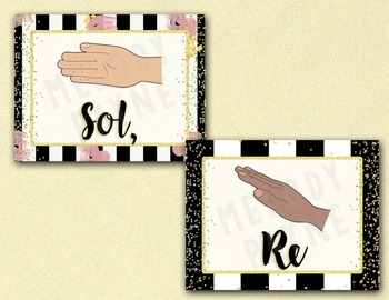 Solfege Hand Sign Posters {Kodaly/Curwen} {Chic & Glam}