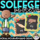 Solfege Hand Sign Posters {Kodaly/Curwen} {Chalkboard, Che
