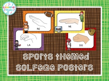 Solfege Hand Sign Posters (Sports Theme Decor Set)