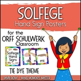 Solfege Hand Sign Posters - Tie Dye Theme