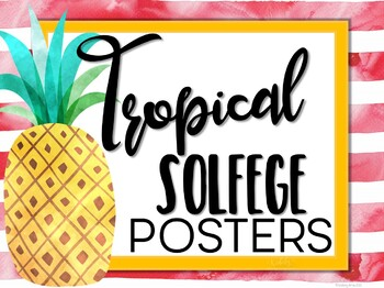 Solfege Hand Sign Posters - Tropical Theme