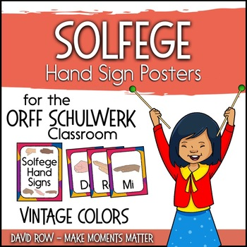 Solfege Hand Sign Posters - Vintage Color Scheme
