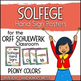 Solfege Hand Sign Posters - Peony Color Scheme