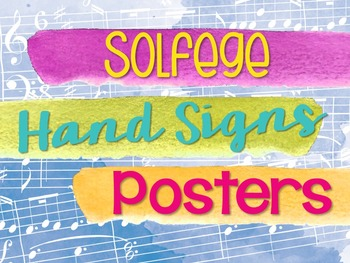 Solfege Hand Sign Posters - Watercolor
