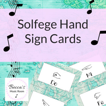 Solfege Hand Sign Posters | World Map/Travel Theme