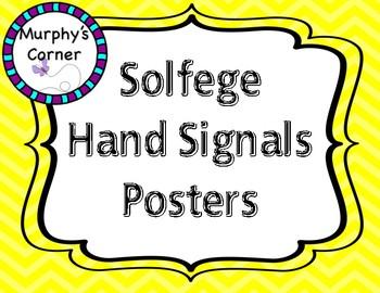 Solfege Hand Signal Posters- Design 2 Bright Chevron