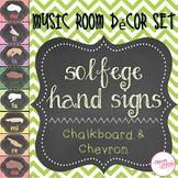 Solfege Hand Signs - Chevron & Chalkboard Theme