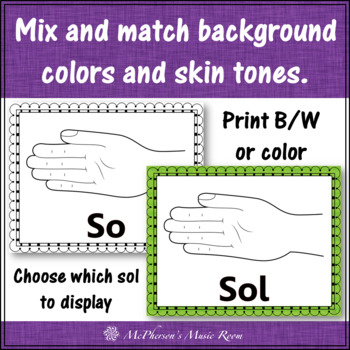 Solfege Hand Signs {Posters} Music Bulletin Board