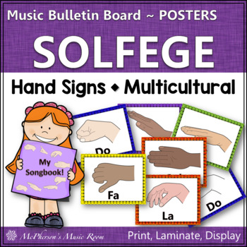 Solfege Hand Signs - Music Word Wall {Posters}
