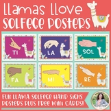 Solfege Hand Signs Posters: Llamas Llove Solfege! {Music C