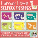 Solfege Hand Signs Posters: Llamas Llove Solfege! {Music C