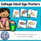 Solfege Hand Signs Posters {Ocean Theme}