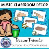 Solfege Hand Signs Posters {Ocean Theme}
