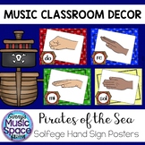 Solfege Hand Signs Posters Pirate Theme