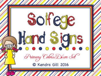 Solfege Hand Signs - Primary Color Themed