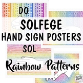 Solfege Hand Signs: Rainbow Patterns Music Room Decor