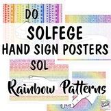 Solfege Hand Signs: Rainbow Patterns Music Room Decor
