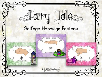 Solfege Handsign Posters - Fairy Tale