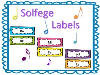 Solfege Labels for Music Classroom Decor or Bulletin Board Display
