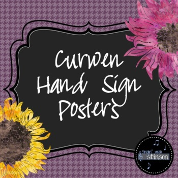 Flowery Curwen Hand Sign Posters