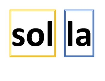 Solfege Ladder Visual Squares - large