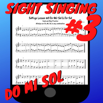 Solfege Lesson#3 Sight Singing Practice Worksheet PDF