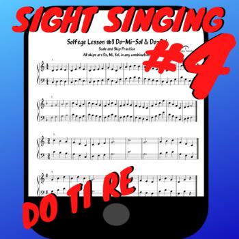 Solfege Lesson #4 Sight Singing Practice Worksheet PDF