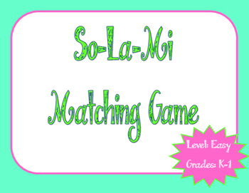 Solfege Matching Game: Easy
