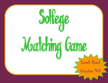 Solfege Matching Game: Hard