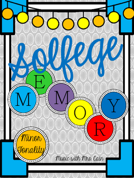 Solfege Memory Card Game: Minor Tonality Patterns