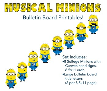Solfege Minions with Curwen Hand Signs