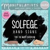 Solfege Hand Signs Posters - Music Decor - Brick - Diverse