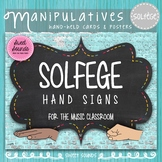 Solfege Hand Signs Posters - Music Decor - Chalkboard - Di