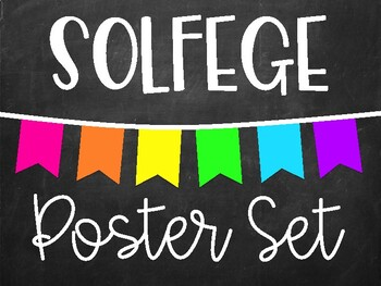 Solfege Poster Set - Chalkboard Brights (Boomwhacker Colors!)