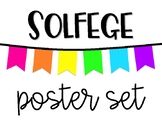 Solfege Poster Set - White Neon (Boomwhacker Colors!)