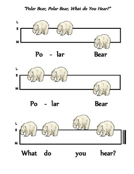 "Solfege Poster for Brannick/Carle's ""Polar Bear, Polar Bear, What Do You Hear?"""