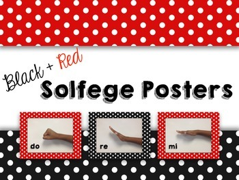 Solfege Posters - Black and Red Theme