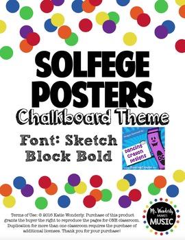 Solfege Posters: Chalkboard Theme