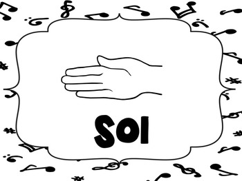 Solfege Posters {Curwen Hand Signs--Black and White, TWO sizes}