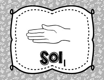 Solfege Posters {Curwen Hand Signs--Grey and White, TWO sizes}
