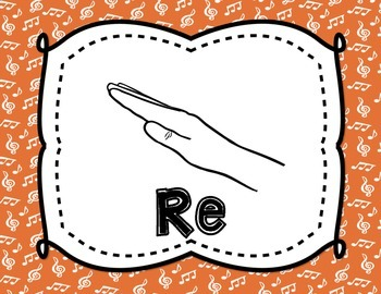 Solfege Posters {Curwen Hand Signs--Rainbow Colors, TWO sizes}