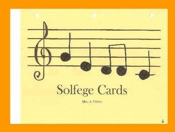 Solfege Practice Cards - Orange