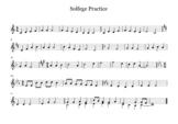 Solfege Practice Treble Clef