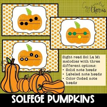Solfege Pumpkins | Sol La Mi