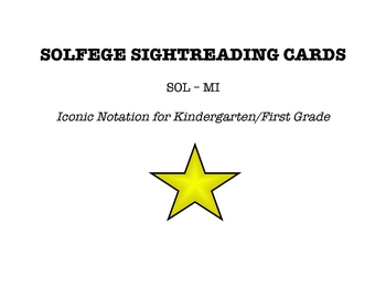 Solfege Sightreading Cards SOL MI - Iconic Notation