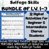 12 Digital Middle School Solfege Activities for Review and Assessment