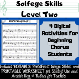 Digital Middle School Chorus Extra Solfege Activities for Review & Assessment