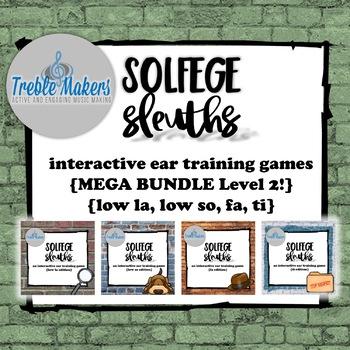 Solfege Sleuths {MEGA BUNDLE! Level 2}