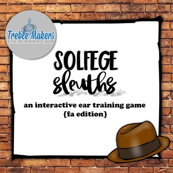 Solfege Sleuths {fa edition}